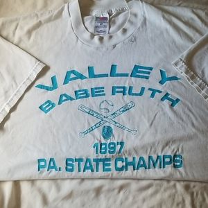 Fruit of the Loom XL mens vintage PA Babe Ruth T
